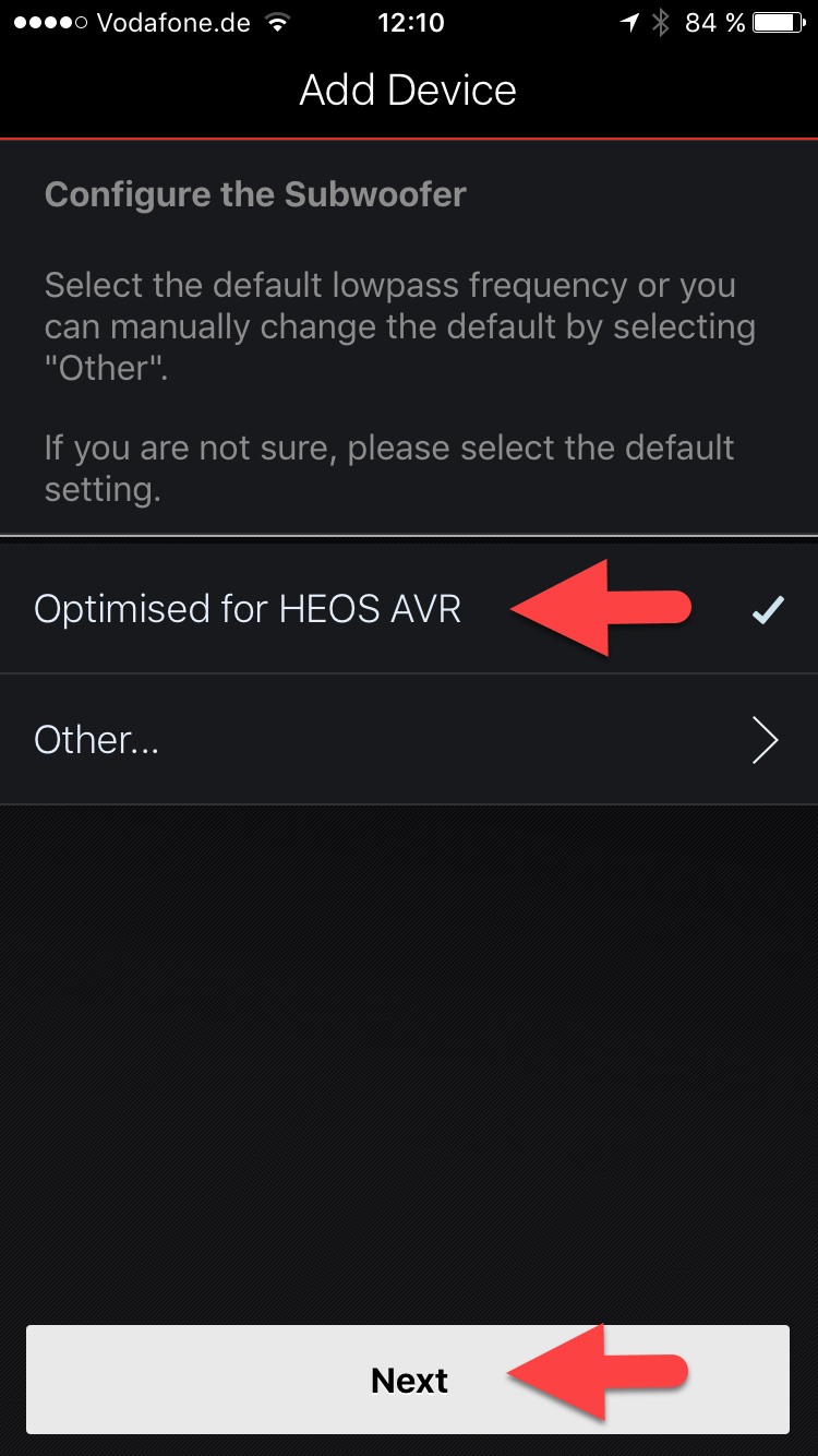 CONFIGURING A HEOS SUBWOOFER FOR USE WITH HEOS AVR OR HEOS BAR