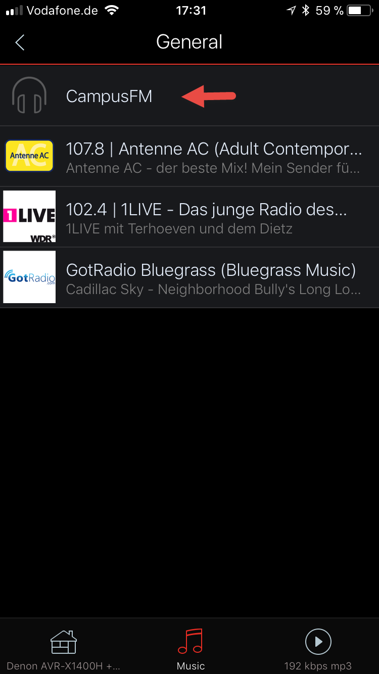 ADD CUSTOM RADIO STATION STREAMING URL TO HEOS