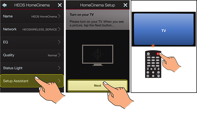 Controlling your Heos HomeCinema using your TV\'s Remote Control