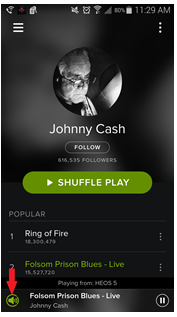USING HEOS WITH SPOTIFY